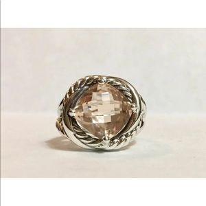 DY Morganite Ring Sz 8